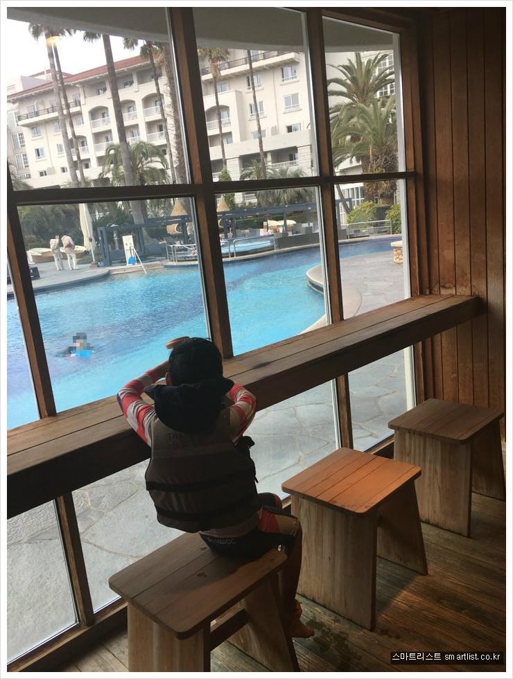 제주 신라호텔 수영장 사우나
